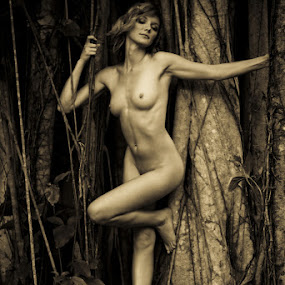 Wood Nymph #11 by J Vargas - Nudes & Boudoir Artistic Nude ( wood nymph, tree, nymph )