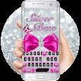 Silver Bowknot Keyboard Theme apk