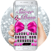 Silver Bowknot Keyboard Theme