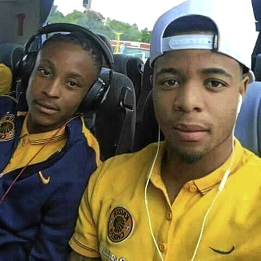 Pule Ekstein and his former Kaizer Chiefs teammate George Lebese.