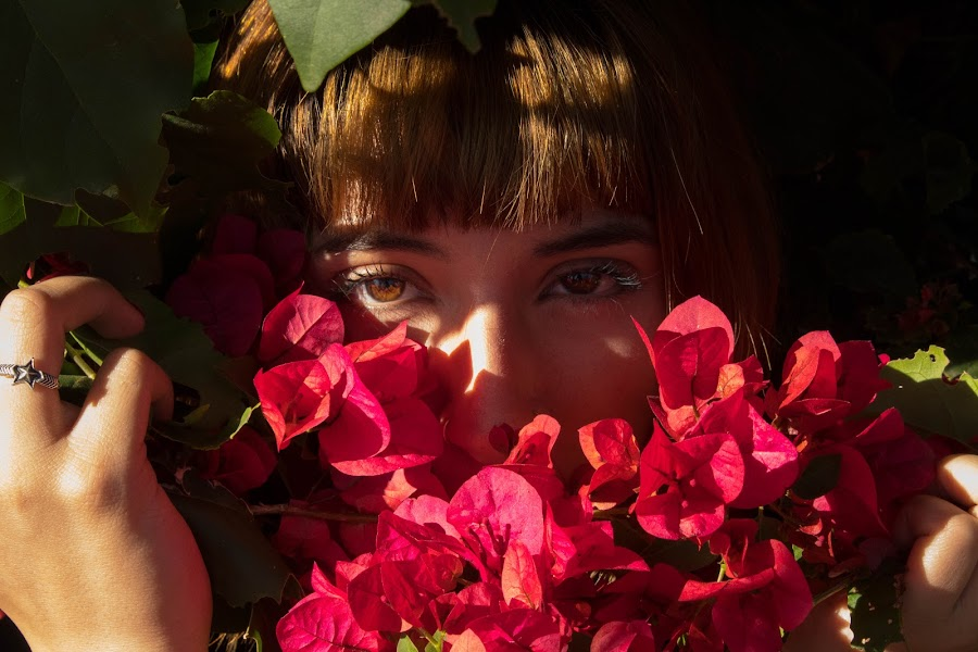 by Xochilt Khoury - Novices Only Portraits & People ( person, aesthetic, flowers, pretty, portrait )