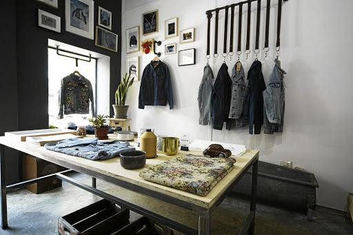 The Tailor Shop in Braamfontain will paint flick, dip and dye, patch, cut, distress, spray or stencil your Levi's jacket.