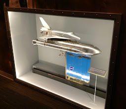 Photo: A 1:44 scale model of the space shuttle that was tested in a NASA Glenn supersonic wind tunnel.