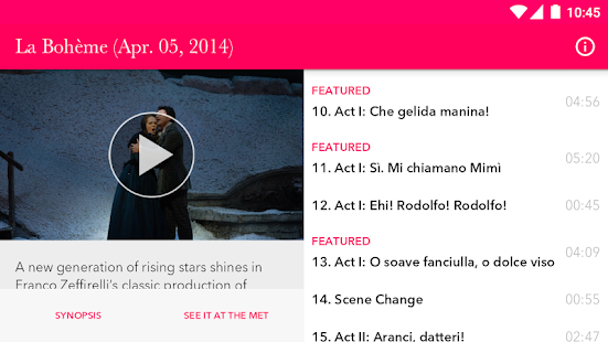Met Opera on Demand- screenshot thumbnail