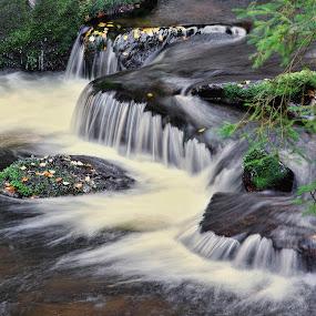 Horský potok by Miloš Stanko - Nature Up Close Natural Waterdrops ( kámen, voda )
