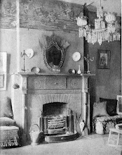 Photo: 1903 This was described as a Colonial mantel with an English hob grate in the home of Mrs. Candace Wheeler, a noted decorating authority (from her book).