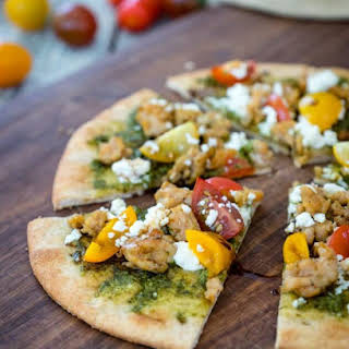 Pesto Pita Bread Pizza.