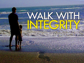 Photo: GOD'S WORD DAILY ~ What to Leave Children ~ 'The just man walketh in his integrity, his children are blessed after him' Proverbs 20.7. 'Walk with Integrity.'