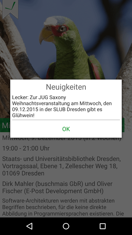 JUG Saxony App- screenshot