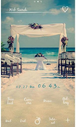 Cute Theme-Beach Wedding- 1.0.0 Windows u7528 2