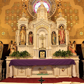 High Altar St. Clements II by Carl VanderWouden - Buildings & Architecture Places of Worship