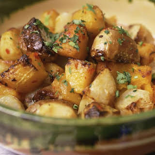 Healthy Oven Roasted Potatoes.