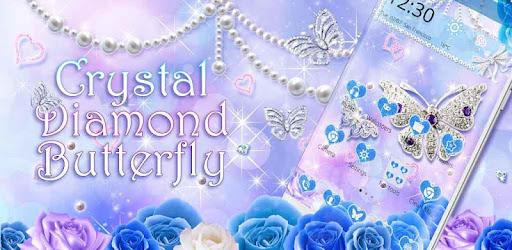 Android/PC/Windows的Crystal Diamond Butterfly Theme (apk) 应用 免費下載 screenshot
