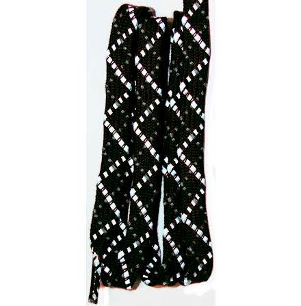Skosnöre mörkbrun reflex 120cm