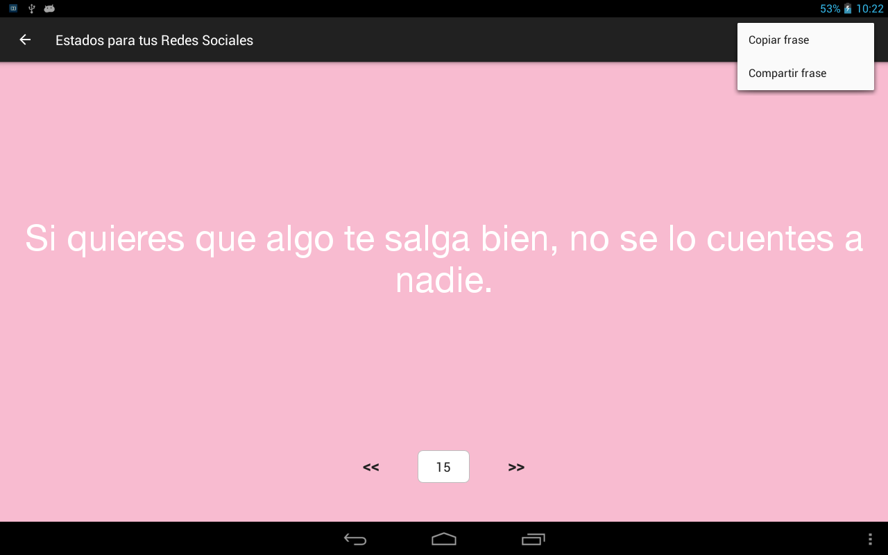 Frases y Estados para Twitter, Whatsapp,...- screenshot