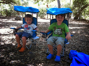 Photo: Brothers in Camp Site Chairs