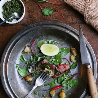 Blue Steak // Chimichurri // Baby Potatoes