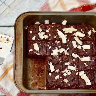 Double Dark Chocolate & Sea Salt Sweet Potato Brownies