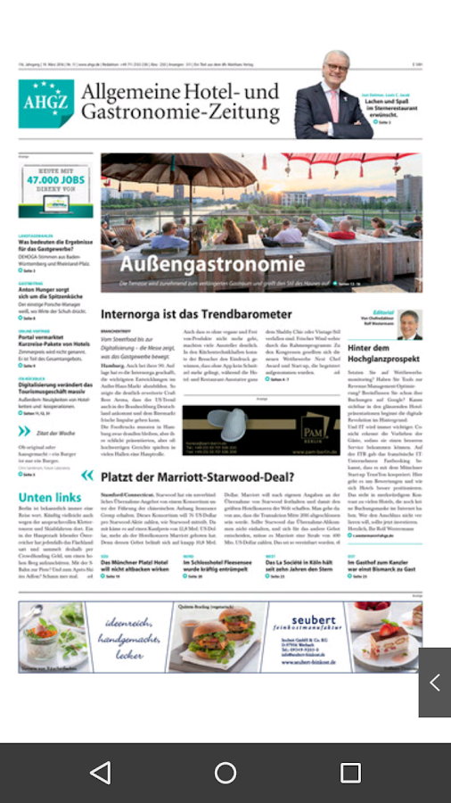 AHGZ Zeitungsapp- screenshot