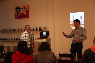 Photo: Matt and Joe speaking about Bay Area Underground