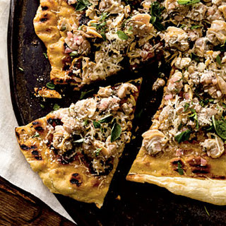 Garlicky Clam Grilled Pizza