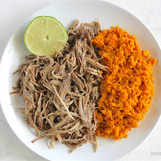 Slow Cooker Pulled Pork with Turmeric Sweet Potato Mash