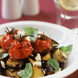 Warm Aubergine and Cherry Tomato Salad