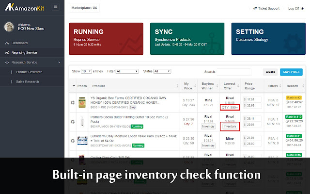 by this tool you can check all sellers inventory data in real time and trackanalyse their sales - Inventory Checker