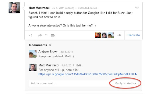 Replies and more for Google+