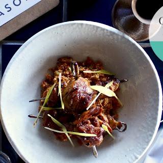 Anason's Chicken Kebabs With Bulgur Herb Salad