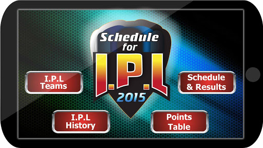 Schedule for I.P.L 2015