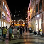 Senado Square at night at Macau in Macau, , Macau SAR