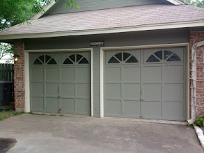 Photo: Here is the before photo of 2 8'W x 7' Tall doors.