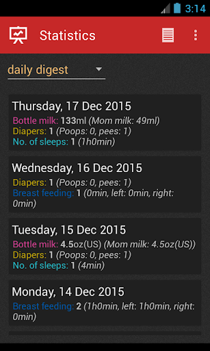 Baby Care Log screenshot