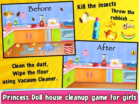 Princess Doll Kitchen Cleaning Poster
