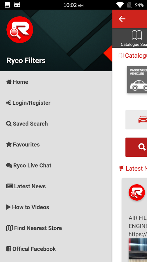 Ryco Filters- screenshot