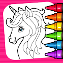 Unicorn Coloring Book & Baby Games for Girls icon