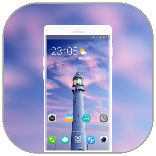 Theme for Samsung Galaxy S9 building lighthouse icon