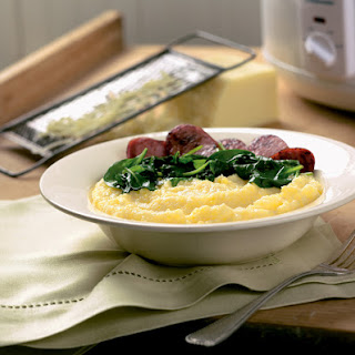 Slow Cooker Cheddar Polenta Recipe