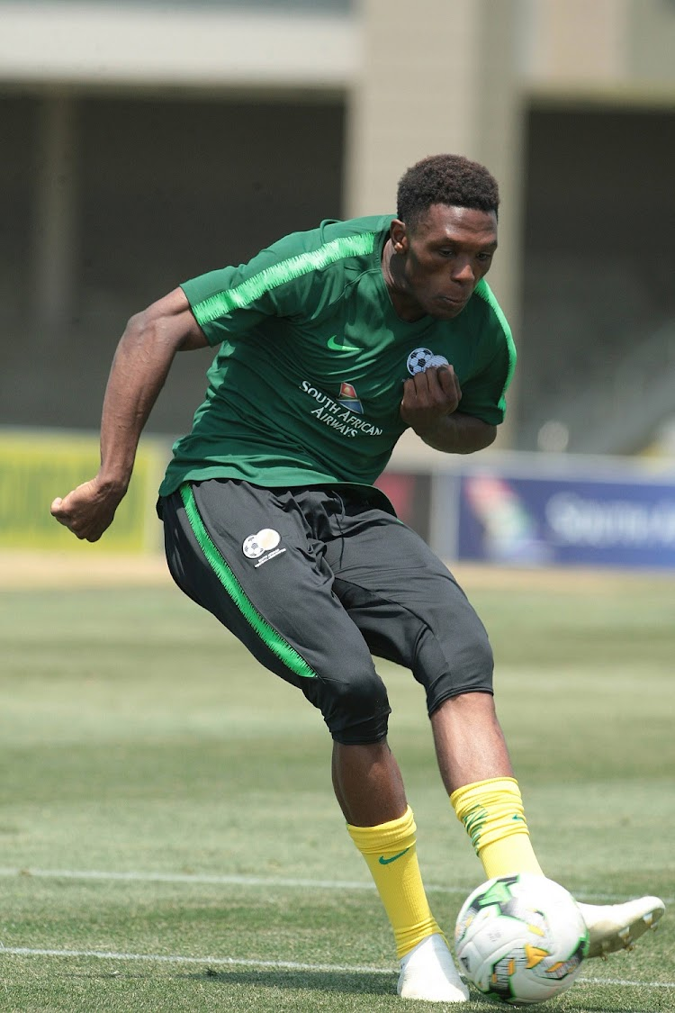 Lebo Mothiba during Bafana Bafana training session in preparation for the 2019 AFCON qualifier clash against Seychelles.