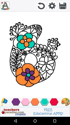 Adult Coloring Books: Alphabet screenshot