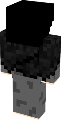Made the skin overall darker, longer hair with cape, Made By: JustGrayness on Minecraft.