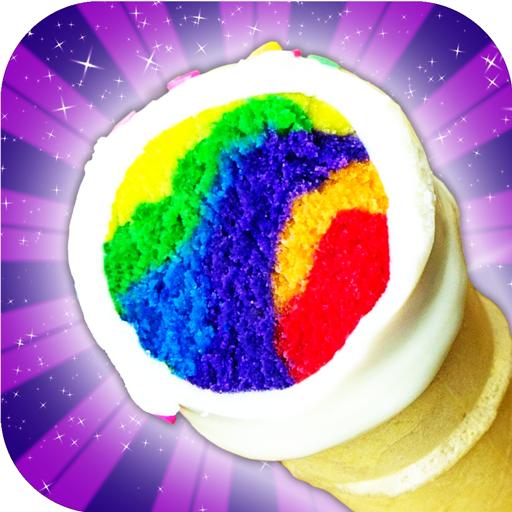 Unicorn Rainbow Ice Cream Cone Cupcake Cooking (game)