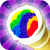 Unicorn Rainbow Ice Cream Cone Cupcake Cooking
