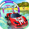 Floating Water Surfer Car Driving - Beach Racing icon