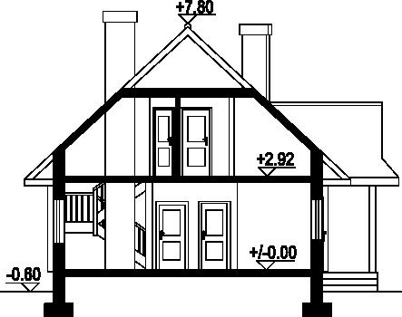 Zawoja średnia dw - Przekrój