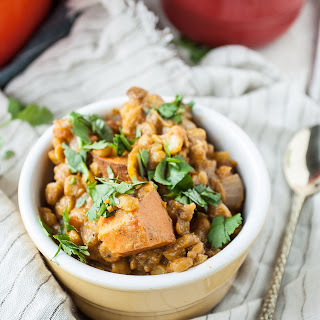 Spiced Sweet Potato Chana Dal Stew