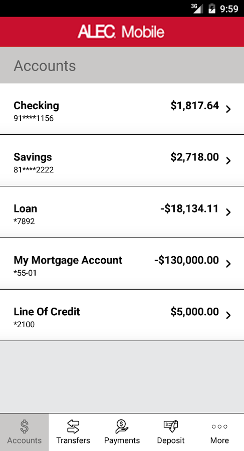 ALEC Mobile Banking- screenshot