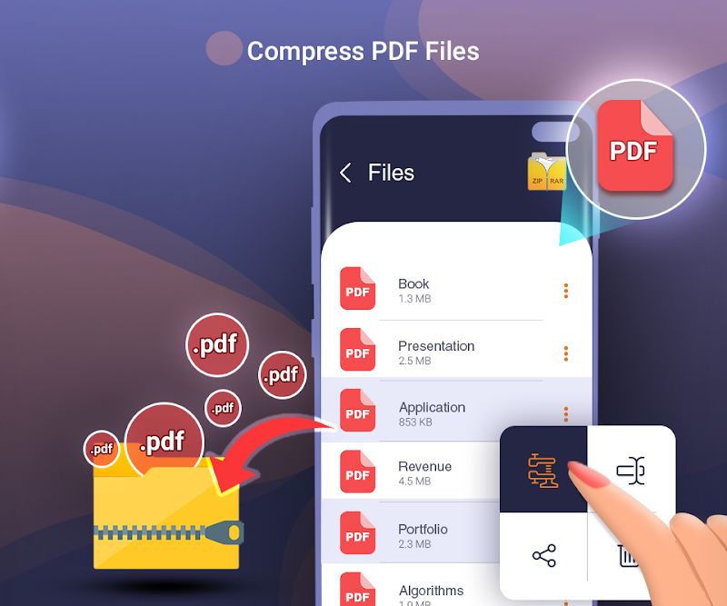 Files Archiver rar Zip Unzip files Screenshot 2