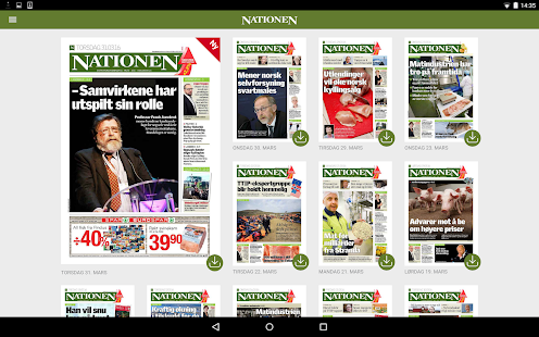 Nationen eAvis- screenshot thumbnail
